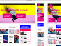 Cultural Centre Homepage Layout