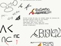 First ideas - logo design AC Business Advice