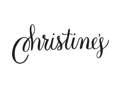 Christine's calligraphy vector hand lettering script
