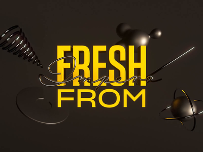 Fresh From Impero Vol.2 metalic texture animation kinetic typography cinema4d aftereffects 3d typogaphy motion design impero