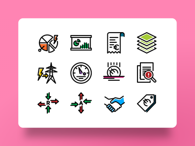 Energy Sector - Organizational Domain Icons prepayment settlement illustrator energy icons energy icon icon design mono monoline single line iconset iconography green energy energy sector energy symbol design icon sets icon set icons icon