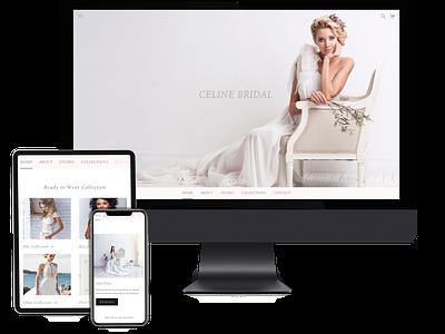 Bridal Website website design webdesign