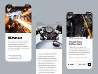 Bunker Custom Cycles mobile website
