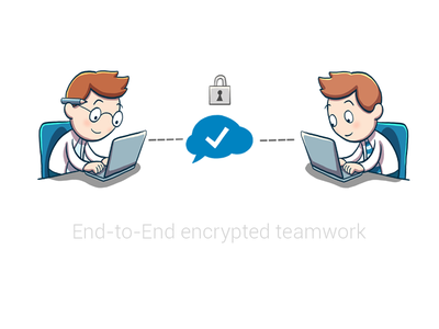Secure encrypted teamwork