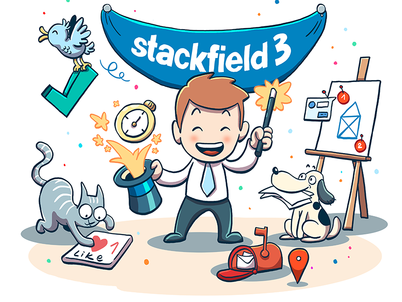 Stackfield 3 project management collaboration productivity communication team tasks todos teamwork