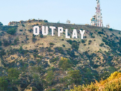 Outplay Hollywood sign style