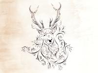 deer- calligraphy