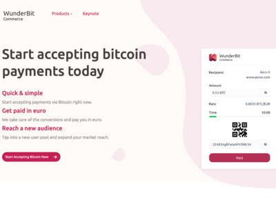 Wunderbit Commerce - accept bitcoin payments
