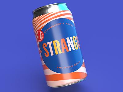 STRANGO Can beer art beer label packaging can