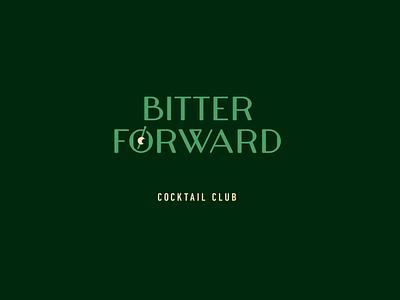 Bitter Forward Branding skewer greens green forward bitter cocktails cocktail branding brand logo