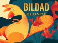 Bildad Blonde Illustration