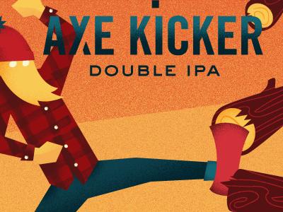 Axe Kicker nisswa minnesota label foot axe splash ale blonde folklore lore can beer