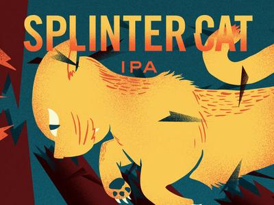 Splinter Cat Illustration nisswa minnesota label cat splinter folklore ipa lore can beer