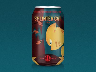VOTE FOR SPLINTER CAT craft beer brew splinter cat label beercan beer