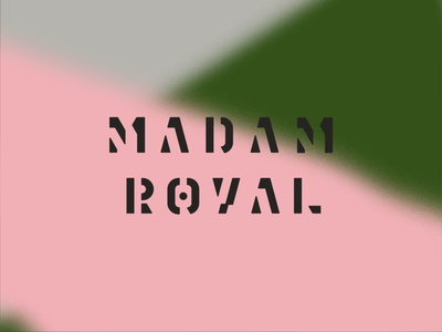 Madam Royal art graffiti design grey gray green pink wordmark logotype type typography logo stencil