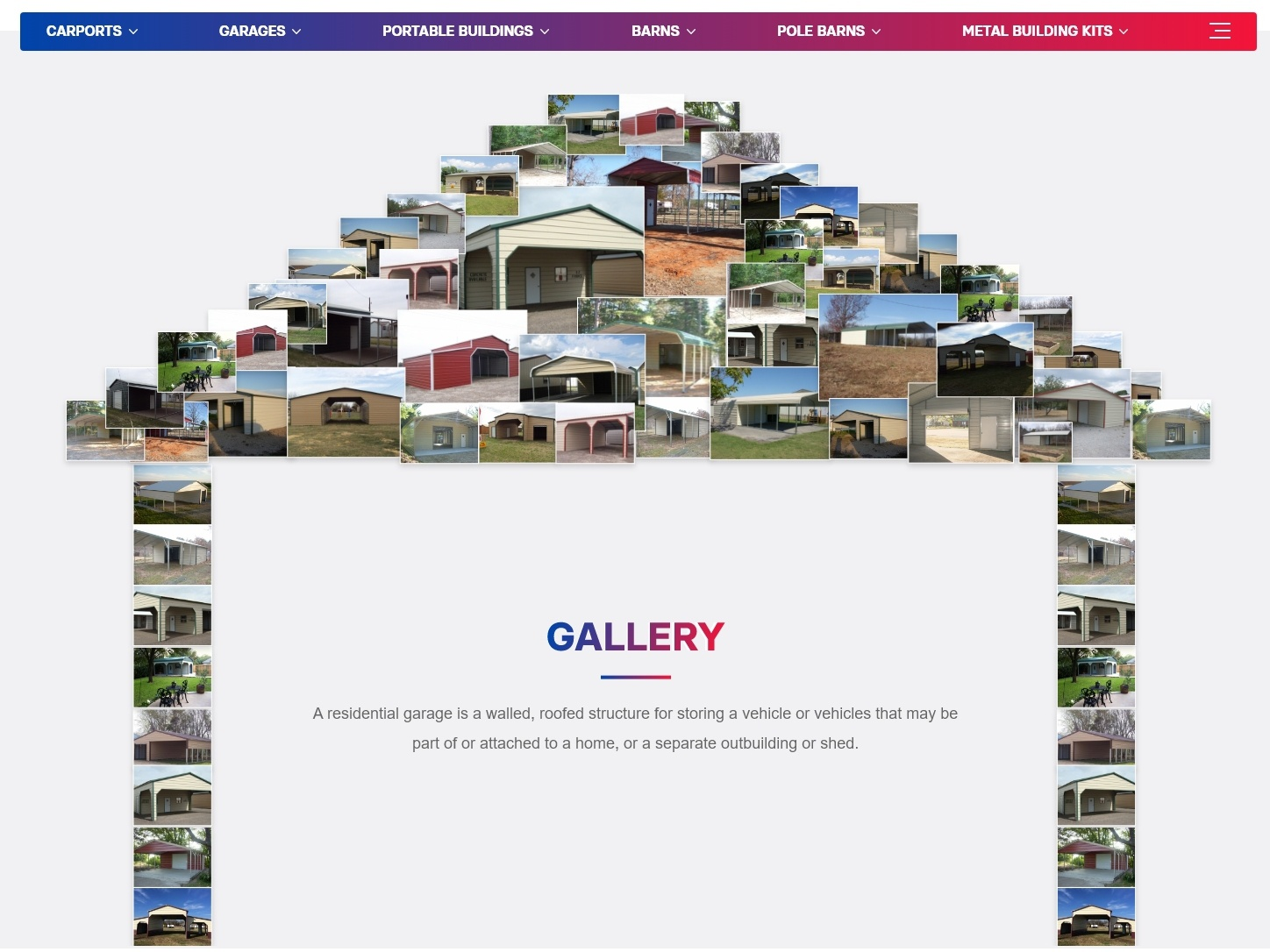 Gallery Page photo collage collage userinterface section gallery page website templates mockup design website design