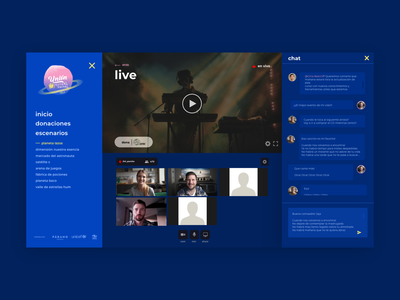Live Streaming Platform 2020 union festival scenario musician music app music player festival union interaction live chat live music zoom conference chat music live streaming service streaming app streaming