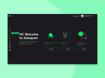 Datagran Onboarding Dark Version
