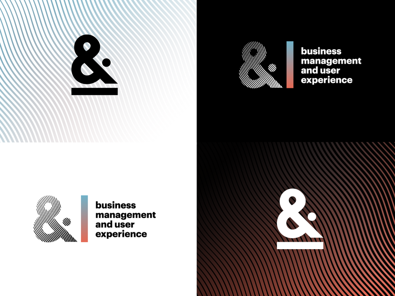 Business Management & UX Team Logo ampersand branding identity user experience design management business logo
