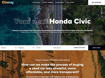 Homepage Hero & Brand Exploration - Car Concierge Service blue orange color grid contemporary modern web branding ux-ui