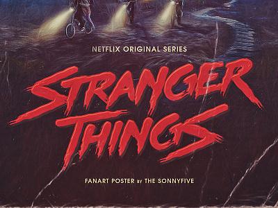 Stranger Things logo & poster fanart thesonnyfive retro newretrowave 80s series netflix strangerthings