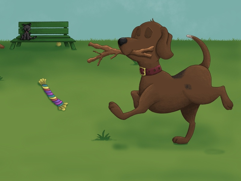 """Oh No, Buddy!"" Children's Illustrations dog illustration park puppy dog kidlit childrens illustration procreate illustration"