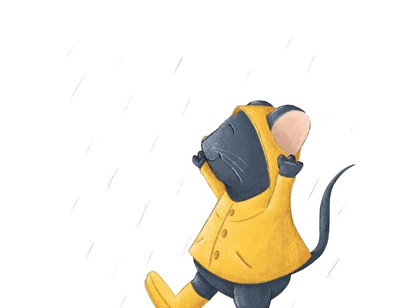 Rainy Day rainy day kidlit procreate illustration childrens illustration mouse