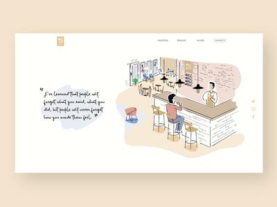 Web illustration - Meet & Eat