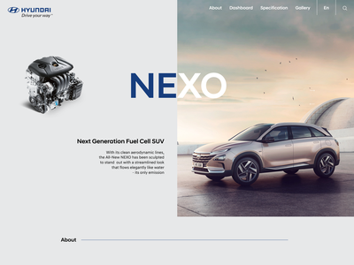 NEXO lp concept landing web design