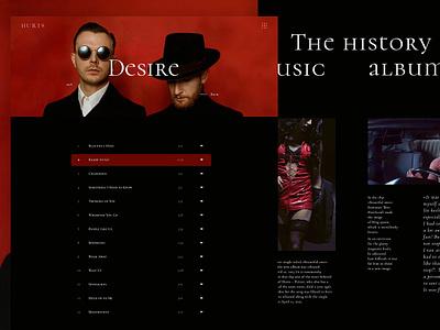 Hi :) The history of the music album. Longread, part 1 ux music grid layout grid design grid longreads longread web music music hurts music minimal hurts group hurts main screen dmitriynaumoval dmitriynaumov