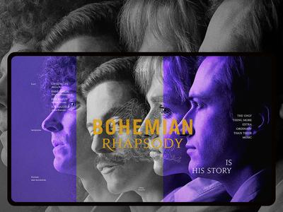 Hi :) QUEEN. Bohemian Rhapsody (film). Main screen