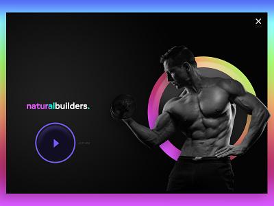 Natural builders landing page web design minimal graphic design landing page ui design flat 2020 design