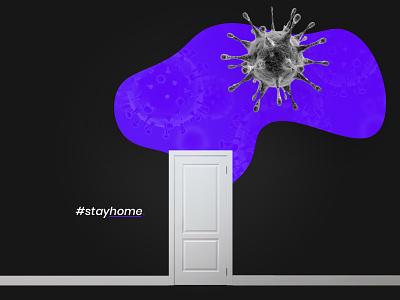 STAY HOME - COVID19 stayhome coronavirus covid19 minimal social media graphic design 2020 design