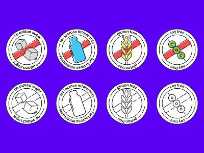 Pictograms supplement label design pictogram flat minimal 2020 design