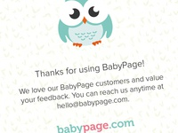 BabyPage Thank You Card