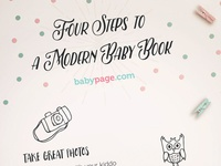 Four Steps To A Modern Baby Book Dribble