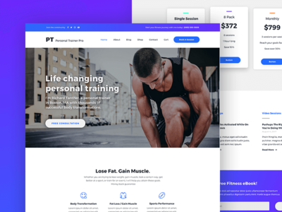 Personal Trainer Pro - Gym & Fitness WordPress Theme