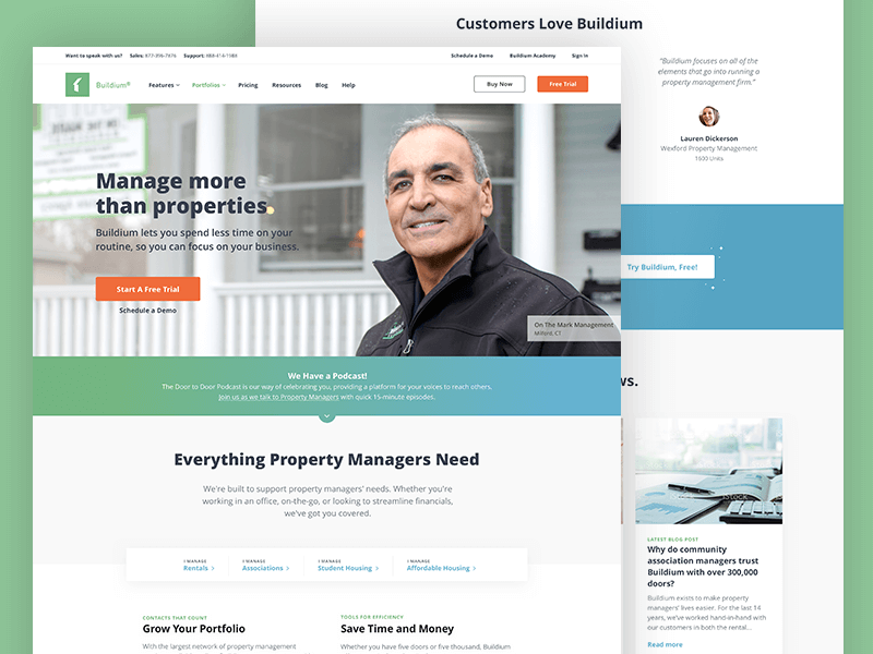 Buildium: Home Page Redesign by Kevin Donnigan | Dribbble