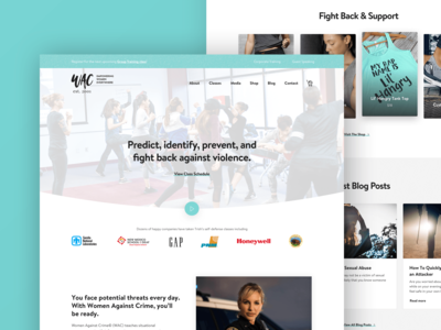 Women Against Crime Website Design Development