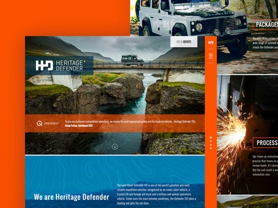 Heritage Defender Website Development