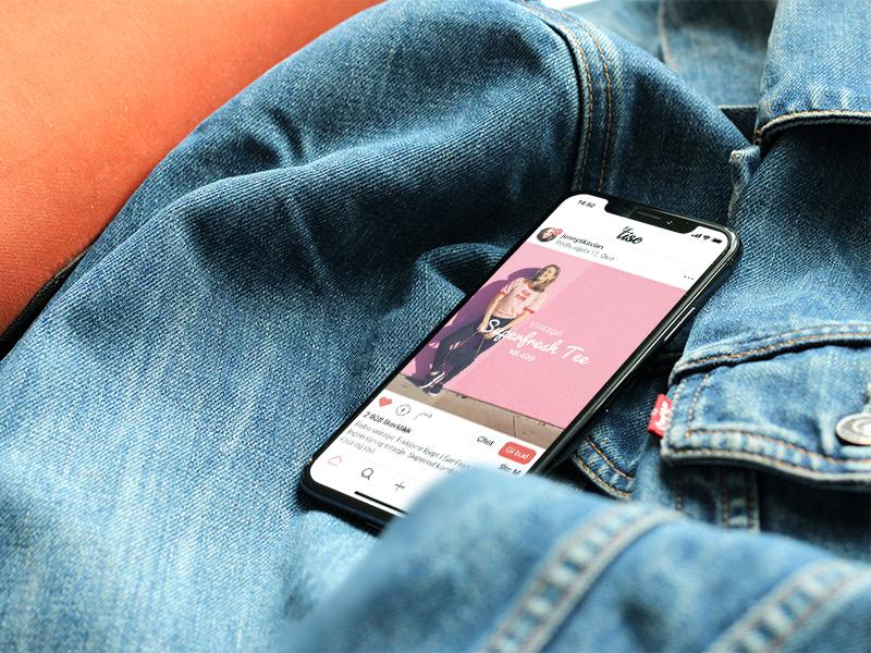 Free iPhone X Mockup mockup free clothes jacket denim x iphone iphonex