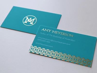 Amy Meyerson Business Cards + Logo