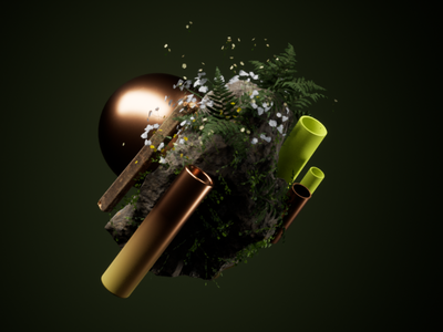 Exploration & Practice - Ornaments aftereffects motiongraphics graphic design realtimerendering unreal engine 4 cinema4d c4d design
