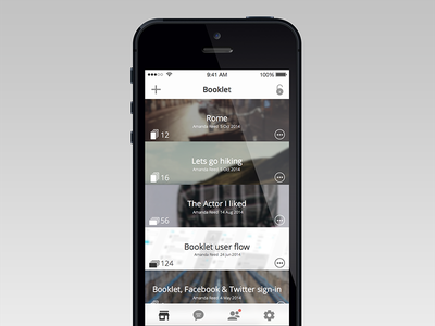 Booklet mobile app booklet ios user interface ui