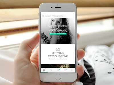 app for booking photographer clean user interface photographer ios mobile ui app