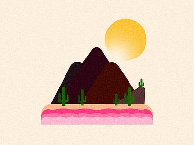 Sunny beach island illustration beach