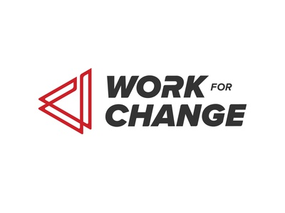 Work For Change Logo design icon logo branding