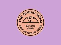 TheBreadNinja brand typography illustration icon vector bakers branding logo sticker stamp bread badge brand