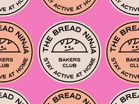 TheBreadNinja Stickers icon typogaphy vector bakers illustration logo branding bread stamps