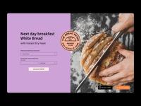 TheBreadNinja website brand design website design webdesign typography logo web ui website